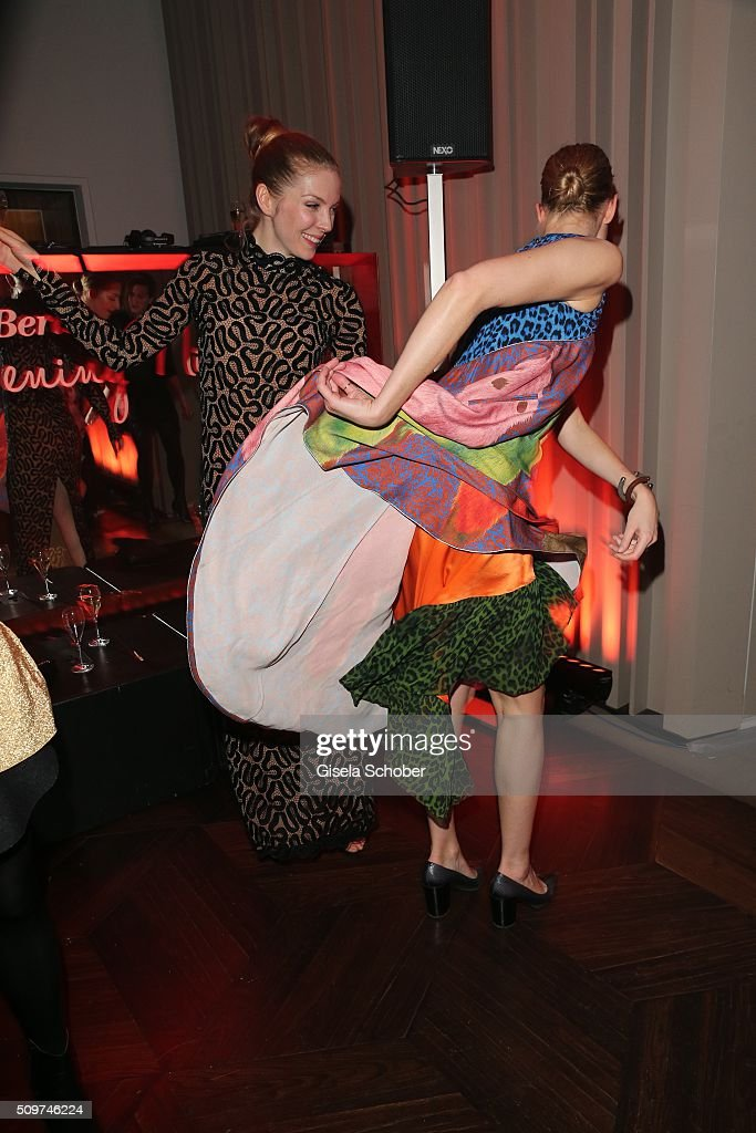 Pheline Roggan and guest are dancing during the 'Berlin Opening Night of GALA & UFA Fiction' at Das Stue Hotel on February 11, 2016 in Berlin, Germany.