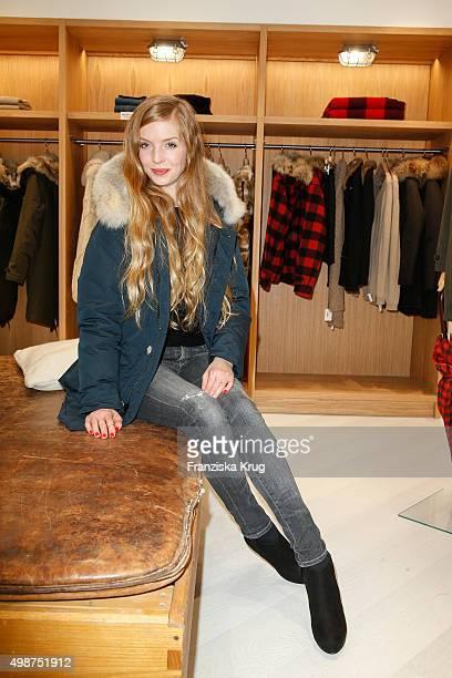 Pheline Roggan attends the Woolrich Store Opening on November 25 2015 in Berlin Germany
