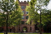 Phelps Hall stands in this photo taken with a tiltshift lens on the Yale University campus in New Haven Connecticut US on Friday June 12 2015 Yale...