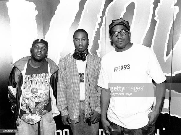 Phife Dawg Ali Shaheed Muhammad QTip of the hip hop group 'A Tribe Called Quest' pose for a portrait in 1994