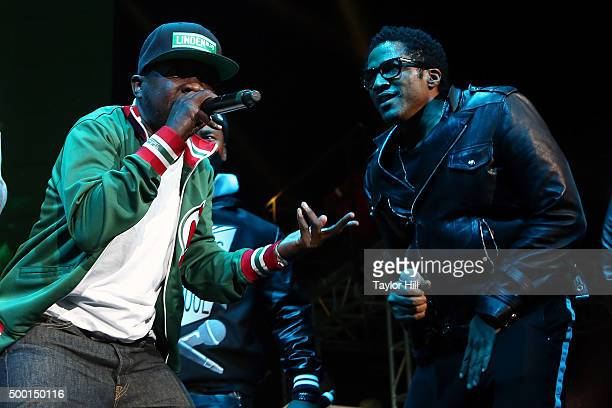 Phife Dawg and QTip of A Tribe Called Quest perform during Hot 97's 'Busta Rhymes And Friends Hot For The Holidays' concert at Prudential Center on...