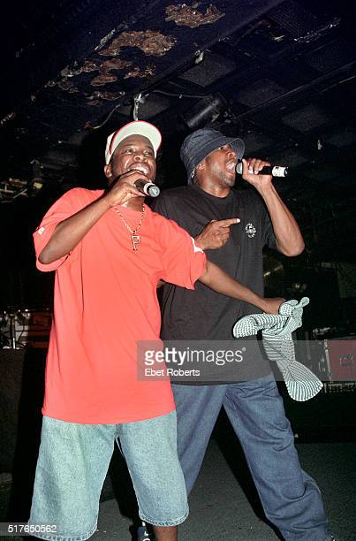Phife Dawg and QTip performing with A Tribe Called Quest at Tramps in New York City on June 18 1998