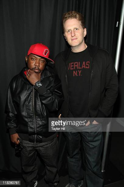 Phife Dawg of A Tribe Called Quest and director Michael Rapaport visit the Apple Store Soho on April 29 2011 in New York City