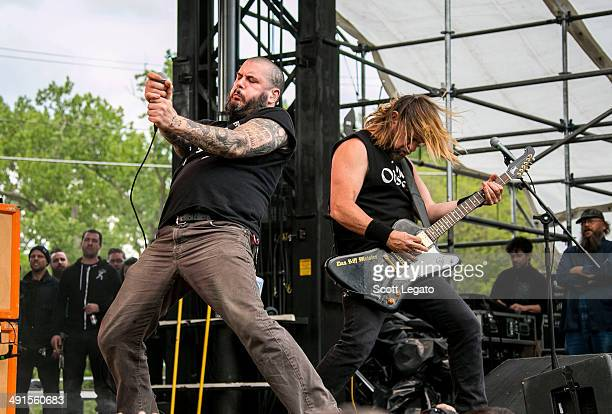Phil Anselmo and Pepper Keenan of Down performs during 2014 Rock On The Range at Columbus Crew Stadium on May 16 2014 in Columbus Ohio