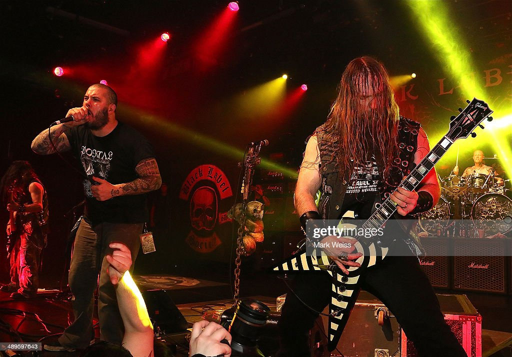 Phil Anselmo of Down and Zakk Wylde of Black Label Society performs Pantera's 'I'm Broken' at Best Buy Theatre on May 10, 2014 in New York, New York.