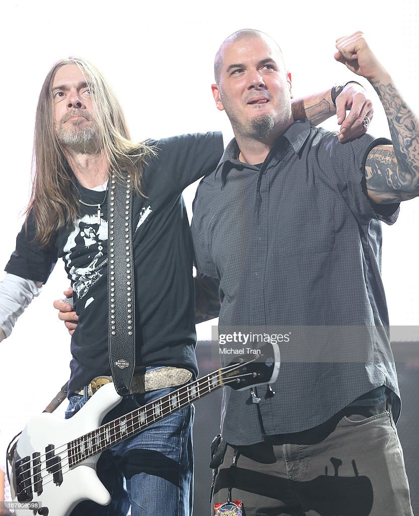 <a gi-track='captionPersonalityLinkClicked' href=/galleries/search?phrase=Phil+Anselmo&family=editorial&specificpeople=1944422 ng-click='$event.stopPropagation()'>Phil Anselmo</a> of Pantera at the 5th Annual Revolver Golden Gods Award Show held at Club Nokia on May 2, 2013 in Los Angeles, California.