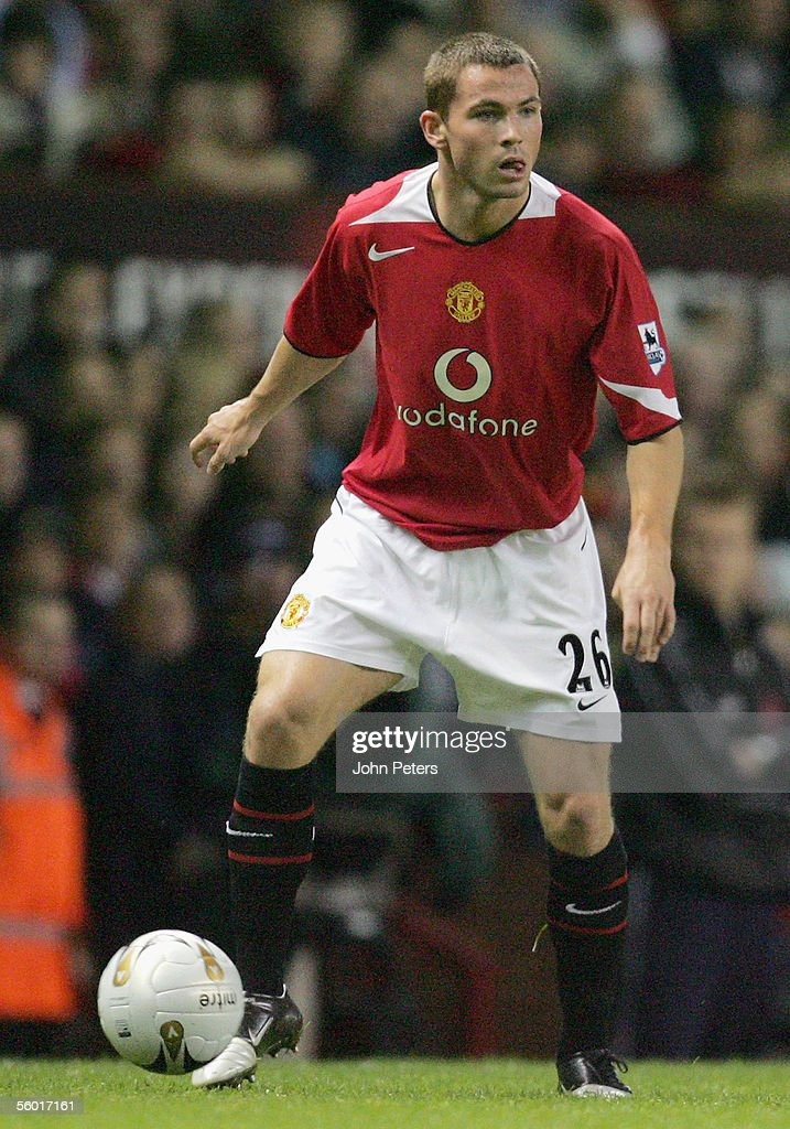 Phil Bardsley of Manchester United in action during the Carling Cup third round match between Manchester United and Barnet at Old Trafford on October...