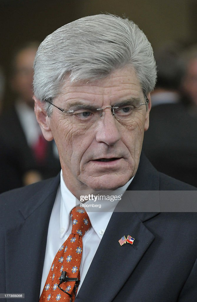 Phil Bryant, governor of Mississippi, attends the Wal-Mart Manufacturing Summit in Orlando, Florida, U.S., on Thursday, Aug. 22, 2013. Wal-Mart Stores Inc.s U.S. chief Bill Simon urged companies to create domestic manufacturing jobs, saying the effort is good for businesses as it cuts costs by having goods produced closer to where they are consumed. Photographer: Jim Stem/Bloomberg via Getty Images