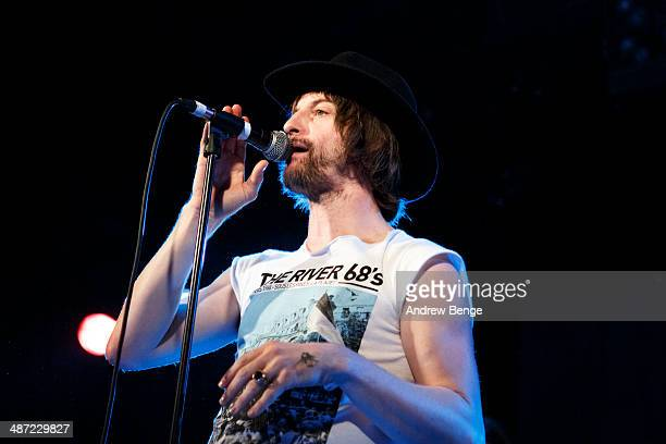 Phil Campbell of The Temperance Movement performs on stage at Leeds Metropolitan University on April 28 2014 in Leeds United Kingdom