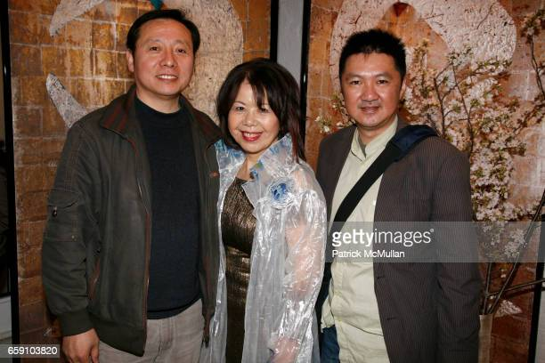 Phil Chen Masako Yuki and Raymond Chow attend GALLERY GEN hosts an art opening for YOSHIAKI YUKI at OpenHouse on April 10 2009 in New York City