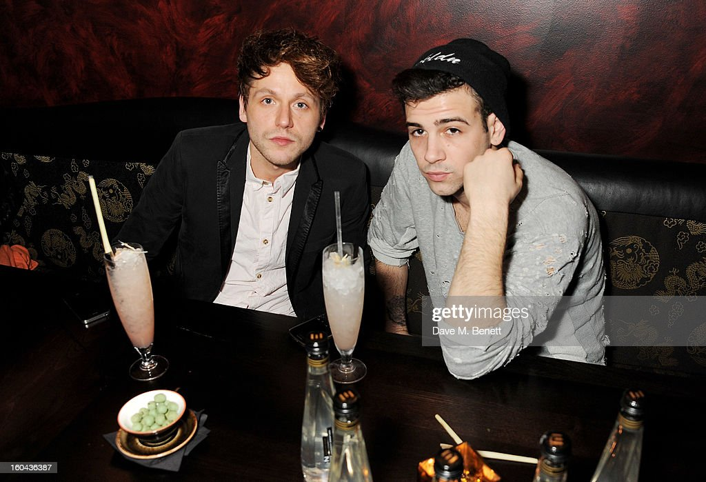 Phil Clifton (L) and Jay Camilleri attend the ZEO 'Just January' party at Buddha-Bar London on January 31, 2013 in London, England.