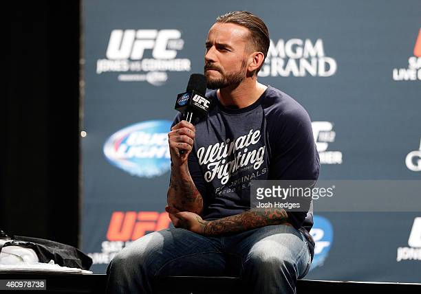 Phil 'CM Punk' Brooks interacts with fans during a QA session before the UFC 182 weighin event at the MGM Grand Conference Center on January 2 2015...