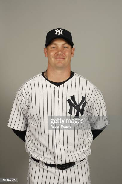 Phil Coke of the New York Yankees poses during Photo Day on Thursday February 19 2009 at Steinbrenner Field in Tampa Florida