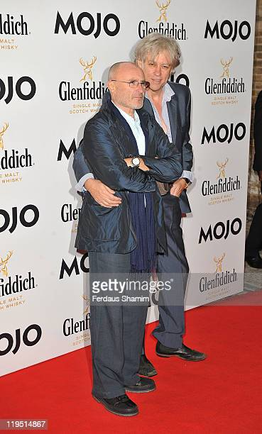 Phil Collins and Bob Geldof attend Glenfiddich Mojo Honours List at The Brewery on July 21 2011 in London England