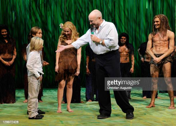 Phil Collins and both sons Matthew Collins and Nicholas Collins Alexander Klaws and Elisabeth Huebert attend Tarzan Musical 3rd anniversary at...