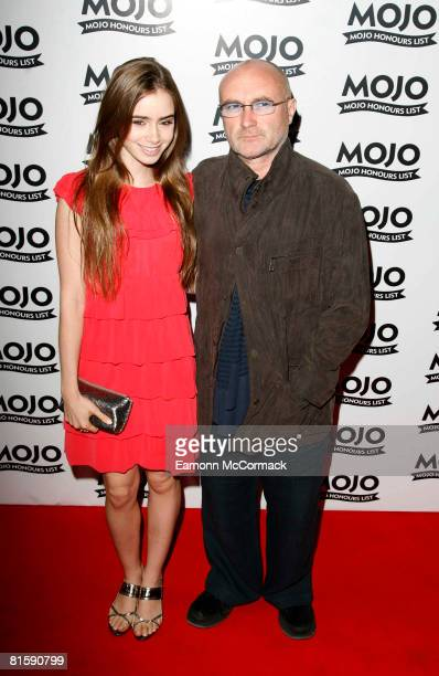 Phil Collins and Daughter arrive at The MOJO Honours List 2008 at The Brewery on June 16 2008 in London England
