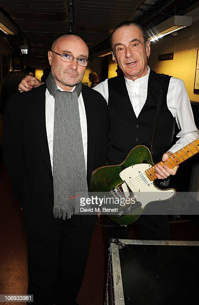 Phil Collins and Francis Rossi attend The Prince's Trust Rock Gala 2010 supported by Novae at The Royal Albert Hall on November 17 2010 in London...
