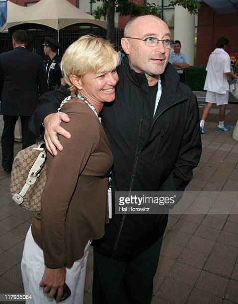 Phil Collins and guest during Opening Night Gala for U S Open Tennis and Education Foundation at Tennis Center at Flushing Meadows in New York City...