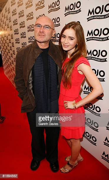 Phil Collins and his daughter arrive at The Brewery for the Mojo Honours List 2008 on June 16 2008 in London England