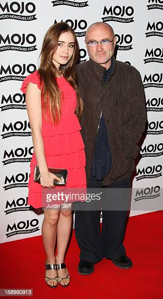 Phil Collins And His Daughter Lily Arrives At The Mojo Honours List 2008 Award Ceremony At The Brewery On June 16 2008 In London