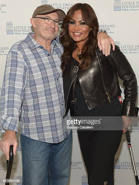Phil Collins and Orianne Collins attends the Phil and Orianne Collins host Little Dreams Foundation brunch at Faena Hotel on May 15 2016 in Miami...