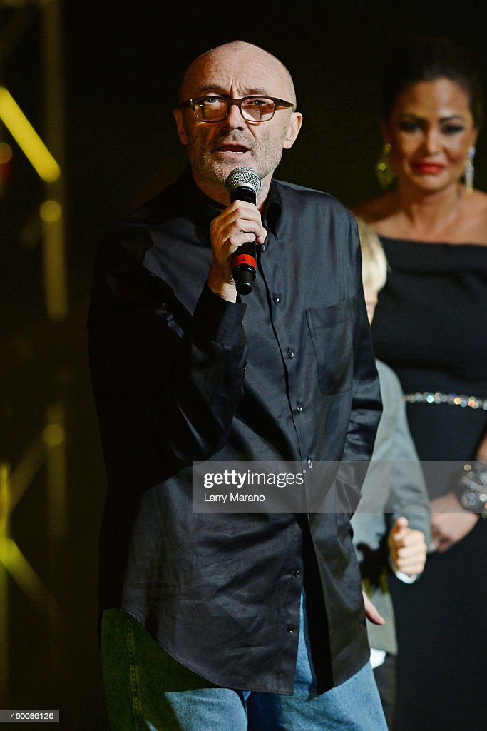 <a gi-track='captionPersonalityLinkClicked' href=/galleries/search?phrase=Phil+Collins&family=editorial&specificpeople=204501 ng-click='$event.stopPropagation()'>Phil Collins</a> and Orianne Collins-Mejjati attend the 2014 Annual Little Dreams On The Beach Gala at Fillmore Miami Beach on December 6, 2014 in Miami Beach, Florida.