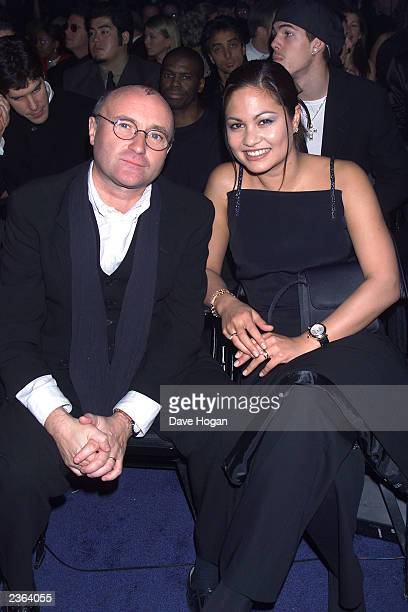 Phil Collins and wife Orianne Cevey at the 42nd Grammy Awards held in Los Angeles CA on February 24 2000 Photo by Dave Hogan/Getty Images