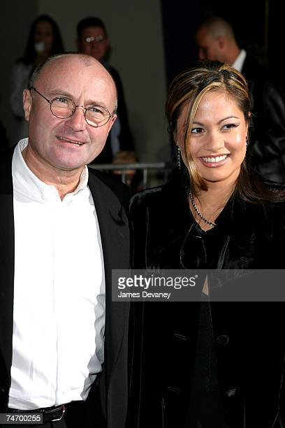 Phil Collins and wife Orianne Cevey at the New Amsterdam Theatre in New York City New York