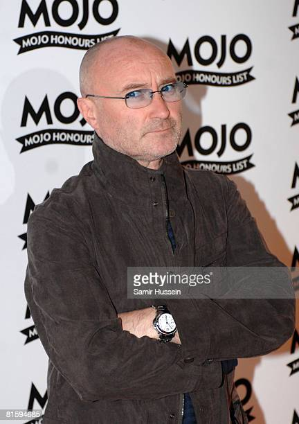 Phil Collins arrives at The Mojo Honours List 2008 Award Ceremony at The Brewery on June 16 2008 in London England