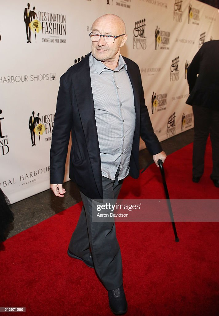 Phil Collins attends Destination Fashion 2016 to benefit The Buoniconti Fund to Cure Paralysis, the fundraising arm of The Miami Project to Cure Paralysis at Bal Harbour Shops on March 5, 2016 in Miami, Florida.