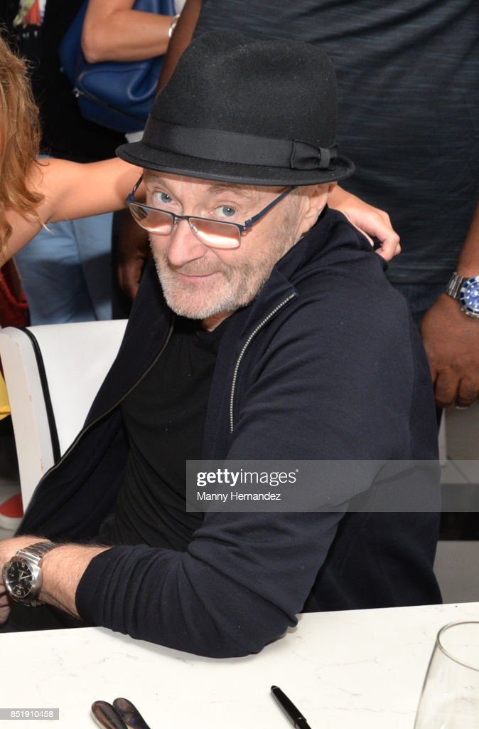 Phil Collins attends Little Dreams Foundation Music Auditions in Design District on September 20, 2017 in Miami, Florida.