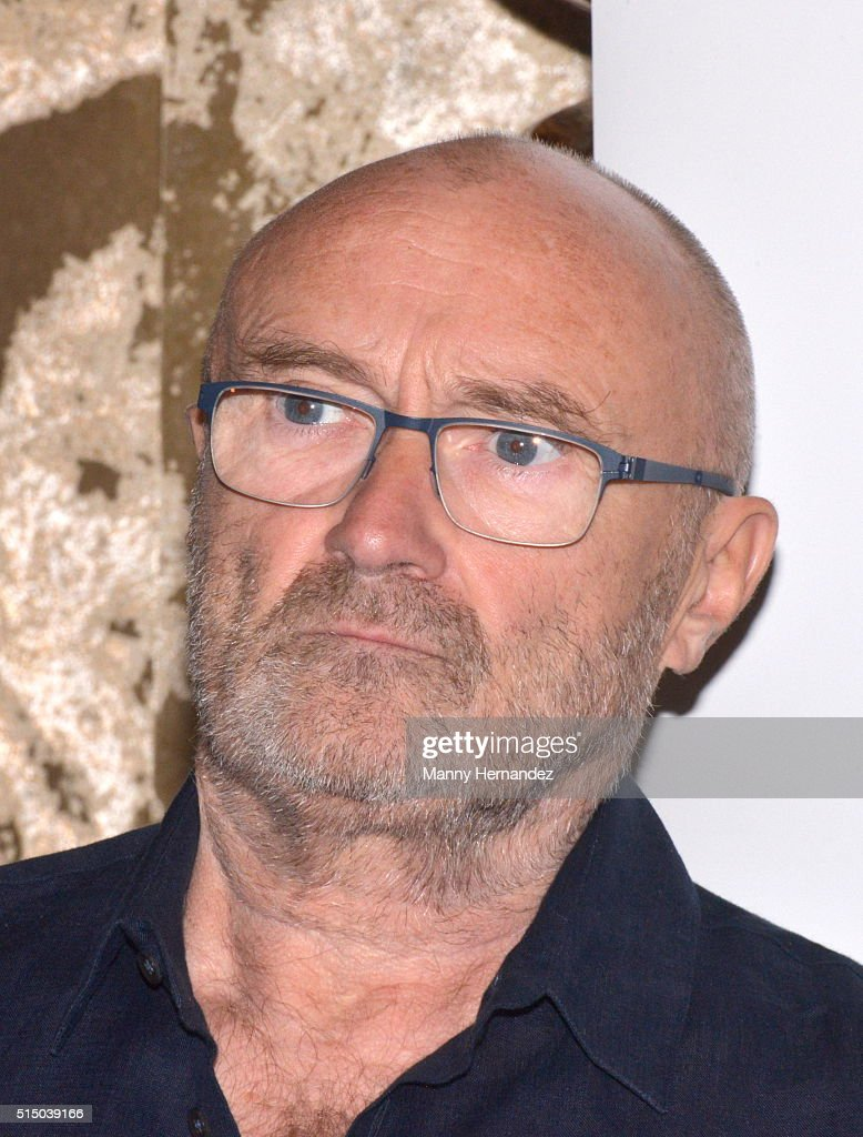 Phil Collins attends Press Conference for Little Dreams Foundation at Seminole Hard Rock Hotel & Casino – Hard Rock Cafe Hollywood on March 4, 2016 in Hollywood, Florida.