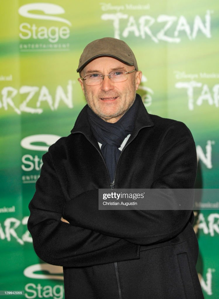 <a gi-track='captionPersonalityLinkClicked' href=/galleries/search?phrase=Phil+Collins&family=editorial&specificpeople=204501 ng-click='$event.stopPropagation()'>Phil Collins</a> attends Tarzan Musical 3rd anniversary at Theatre 'Neue Flora' on October 22, 2011 in Hamburg, Germany.