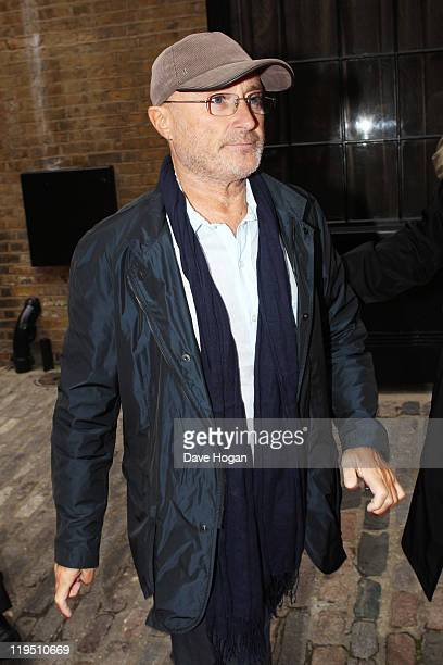 Phil Collins attends the Glenfiddich Mojo Honours List 2011 at The Brewery on July 21 2011 in London England