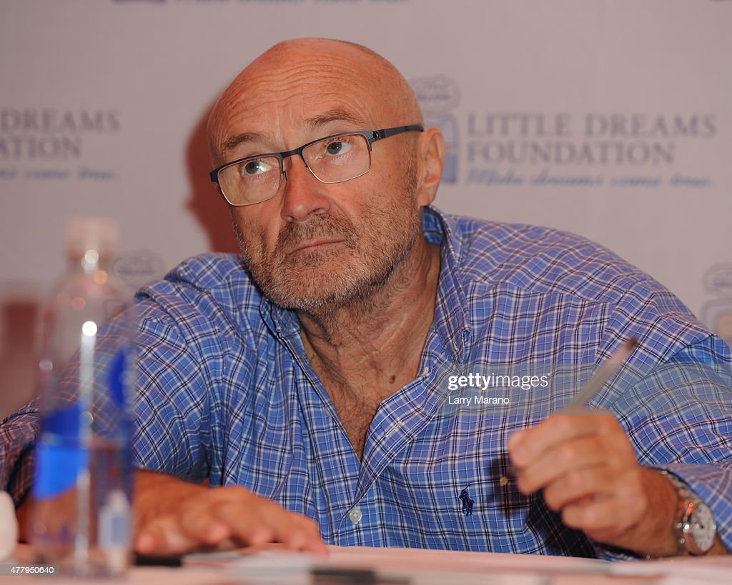 Phil Collins attends the Little Dreams Foundation auditions at Markee Studios on June 20, 2015 in Deerfield Beach, Florida.