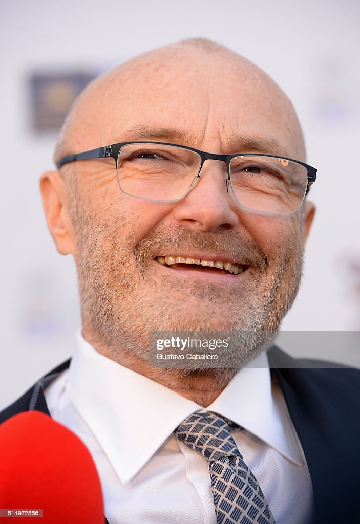 Phil Collins attends The Little Dreams Foundation Benefit Gala: Dreaming on the Beach at Fillmore Miami Beach on March 11, 2016 in Miami Beach, Florida.