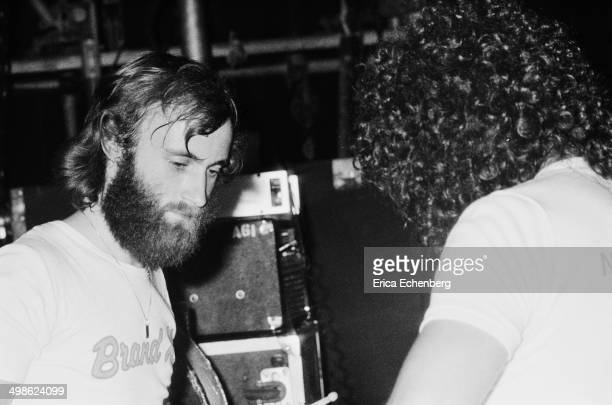 Phil Collins behind the drums while performing with Brand X at The RoundhouseLondon 31st May 1976