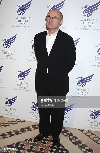 Phil Collins during American Theatre Wing Spring Gala Honoring Matthew Broderick and Nathan Lane April 10 2006 at Ciprianis 42nd Street in New York...