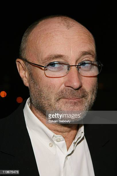 Phil Collins during New York Film Festival premiere of Miramax Films 'The Queen' Arrivals at Lincoln Center in New York City New York United States