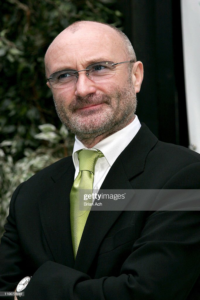 <a gi-track='captionPersonalityLinkClicked' href=/galleries/search?phrase=Phil+Collins&family=editorial&specificpeople=204501 ng-click='$event.stopPropagation()'>Phil Collins</a> during Opening Night of the Broadway Musical 'Tarzan' - Red Carpet at Richard Rogers Theatre in New York, New York, United States.