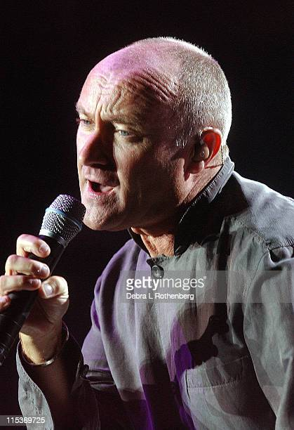 Phil Collins during Phil Collins 'Final Farewell Tour 2004' September 17 2004 at Madison Square Garden in New York City New York United States