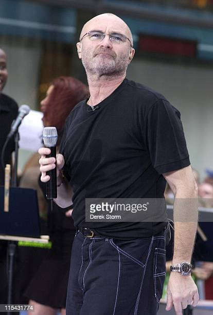 Phil Collins during Phil Collins performs on the Today Show June 23 2006 at Today Show Studios in New York City NY United States