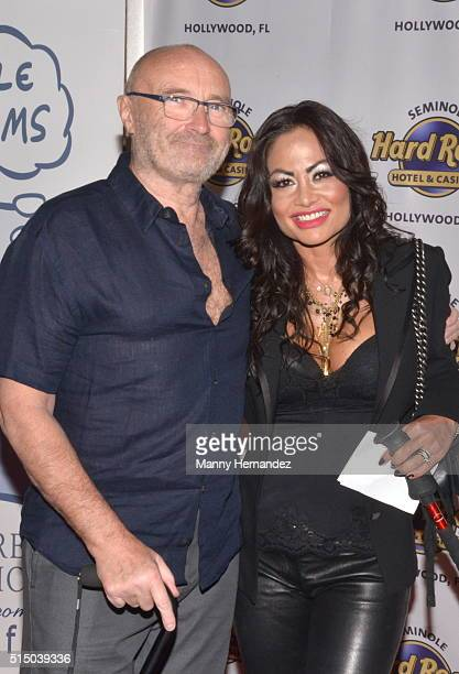 Phil Collins Orianne Collins attends Press Conference for Little Dreams Foundation at Seminole Hard Rock Hotel Casino – Hard Rock Cafe Hollywood on...