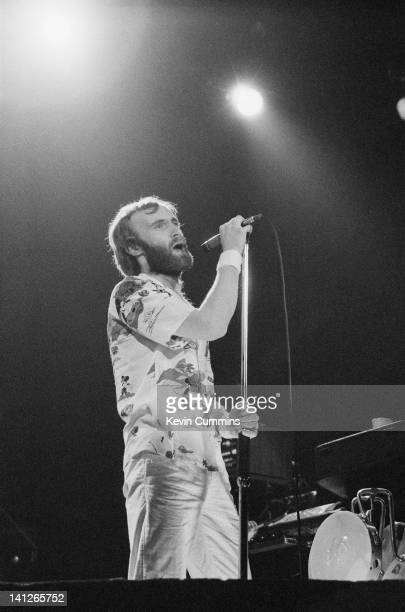 Phil Collins performing with Genesis at the Manchester Apollo 19th April 1980