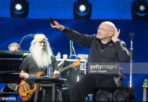 Phil Collins performs at Barclaycard British Summertime at Hyde Park on June 30 2017 in London England