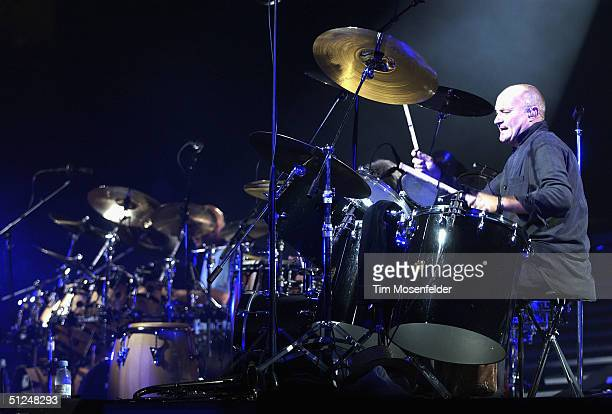 Phil Collins performs part of his 'First Final Farewell Tour' at the HP Pavilion on August 30 2004 in San Jose California