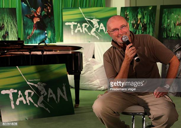 Phil Collins pose during the rehearsals for the Tarzan Musical at the theater Neue Flora on August 11 2008 in Hamburg Germany The Disney Musical...