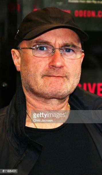 Phil Collins poses for photographs at the Genesis DVD Premiere at Kensington Odeon on May 20 2008 in London England