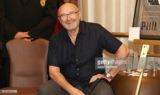 Phil Collins Press Conference for the Little Dreams Foundation at Seminole Hard Rock Hotel Casino Hard Rock Cafe Hollywood on March 4 2016 in...