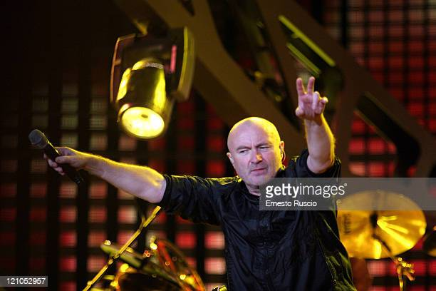 Phil Collins Vocal/drummer of Genesis Genesis live in concert the last date of the european tour Rome 'Circo Massimo' July 14th 2007 Genesis live in...